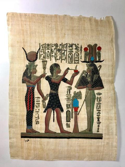 Papiro Egípcio original com temas Faraônicos – Ref.78