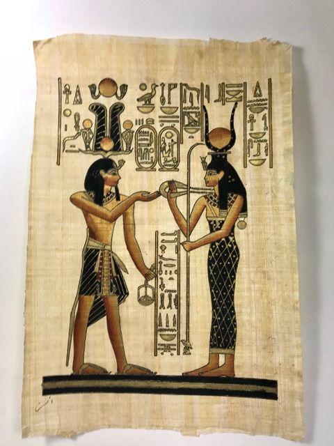 Papiro Egípcio original com temas Faraônicos – Ref.80
