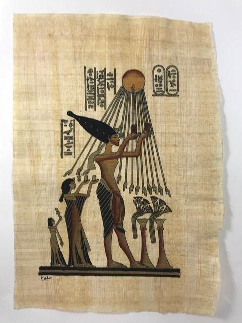 Papiro Egípcio original com temas Faraônicos – Ref.81