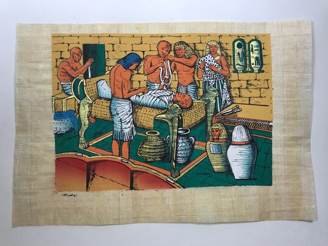 Papiro Egípcio original com temas Faraônicos – Ref.84