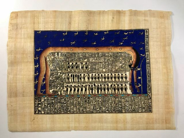 Papiro Egípcio original com temas Faraônicos – Ref.86