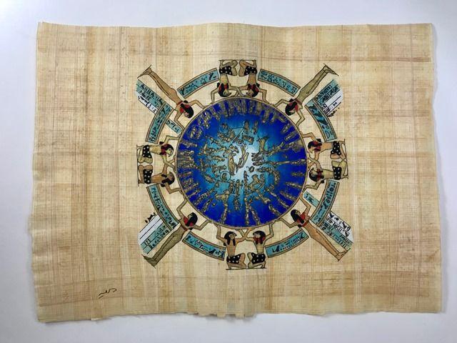 Papiro Egípcio original com temas Faraônicos – Ref.88