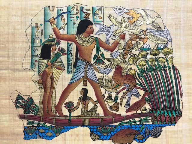 Papiro Egípcio original com temas Faraônicos – Ref.90