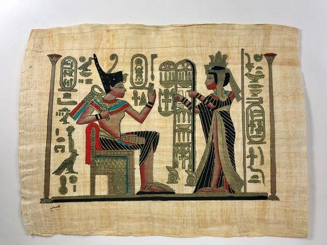 Papiro Egípcio original com temas Faraônicos – Ref.93
