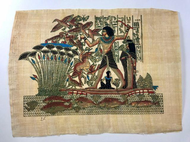 Papiro Egípcio original com temas Faraônicos – Ref.97