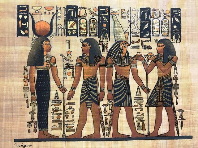Papiro Egípcio original com temas Faraônicos – Ref.98