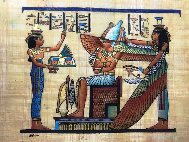 Papiro Egípcio original com temas Faraônicos – Ref.99