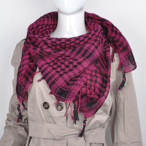Shemagh, Lenço palestino com franja (Pink) Ref.899