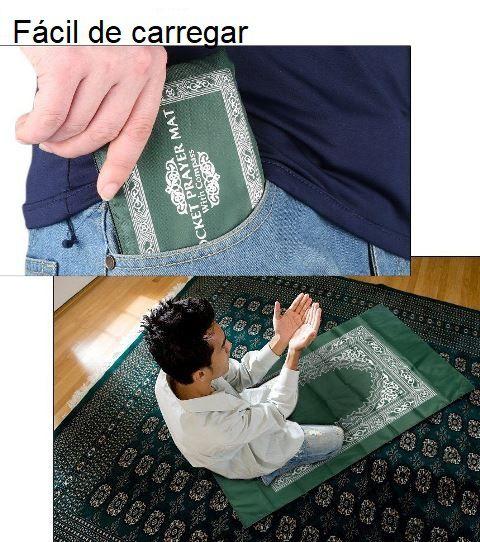 Tapete para Oração de bolso, com bússola
