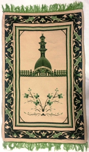Tapete para Oração Islâmico (verde claro)  Ref.45
