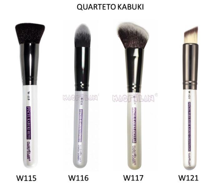 Kit Quarteto Kabuki - Linha W Macrilan - Aproveite e Economize.