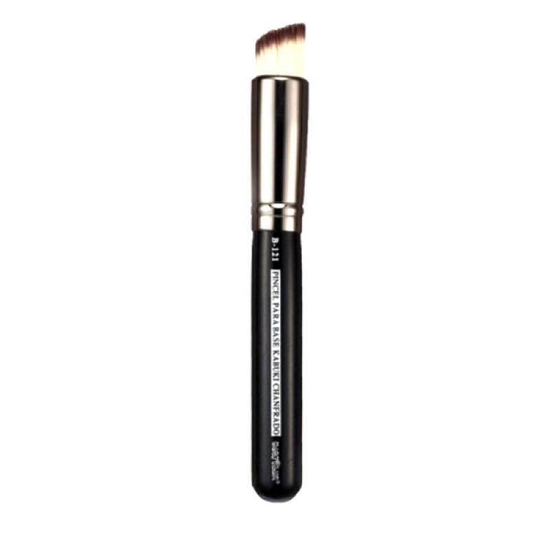 Pincel Profissional Macrilan Kabuki Chanfrado B121 - Maquiagem Profissional