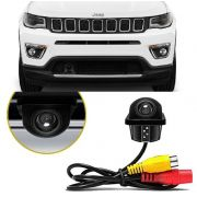 Câmera de Re Frontal Jeep Compass - Compatível Com Centrais Multimídia Original com desbloqueio de Video