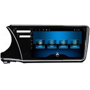 Central Multimidia Aikon Honda City Tela 9 Polegadas - SlimLine  - GPS Mapa Bluetooth MP3 USB Ipod Câmera de Ré - TV  Digital via APP - Sistema Android 8.1