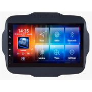 Central Multimidia Aikon  Jeep Renegade PCD -  8.0 Tela 9 Polegadas - GPS Mapa Bluetooth MP3 USB Ipod SD TV Digital  Card Câmera de Ré - Sistema Android 6.0
