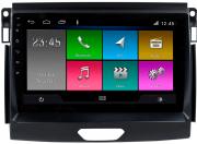 Central Multimidia Ford RANGER 2016/2019 xls -  Aikon ATOM X7 - Tela 9 pol - Waze Spotify - 2 cameras Ré + Frontal - TV  Digital - GPS Integrado -  Bluetooth - 2 entradas USB - Android 8.1