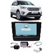 Central Multimidia Hyundai Creta 2017 2019 - Kit Combo DVD Pioneer AVHZ-5080TV + Moldura de Painel 2 Din + Câmera de Ré
