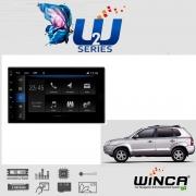 Central Multimidia Hyundai Tucson  - Winca W2  - Espelhamento Waze Spotify youtube - camera Ré + Frontal - TV App l - GPS Integrado -  Bluetooth - 2 entradas USB - Android