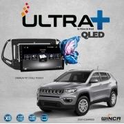 Central Multimidia Jeep Compass Winca ULTRA+ tela 9 polegadas QLED LCD SCREEN Processador Octacore 32Bg CarPlay, 2 Cameras Ré e Frontal, Waze, Youtube - Android 10.0