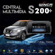 Central Multimidia Nissan Kicks  - Winca Tela 8 polegas Android    Com DVD GPS Mapa Bluetooth MP3 USB Ipod SD Card Câmera de Ré Grátis