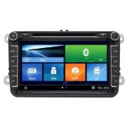 Central Multimidia VW Jetta / Tiguan  - Fox 2016 - 2018- S90  Com DVD GPS Mapa Bluetooth MP3 USB Ipod SD Card Câmera de Ré Grátis