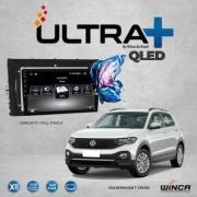 Central Multimidia VW Tcross  Winca ULTRA+ tela 9 polegadas QLED LCD SCREEN Processador Octacore 32Bg CarPlay, 2 Cameras Ré e Frontal, Waze, Youtube - Android 10.0