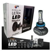 Kit Lampada Led Automotiva Ultra Led Shock Light TITANIUM Encaixe H11 H7 HB4