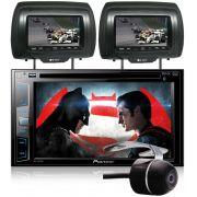 DVD Player Automotivo 2 Din Pioneer AVH-X2880BT GPS WAZE -  + 2 Encosto de Cabeça AV + Câmera Ré Grátis