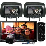 DVD Player Automotivo 2 Din Pioneer AVH-X598TV  Tela 7 Polegadas Com TV Digital Bluetooth Entrada USB Mixtrax + 2 Encosto de Cabeça AV + Câmera Ré Grátis
