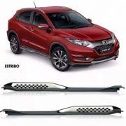 Estribo Lateral Honda Hrv 2015 Á 2021 -  Modelo Original Preto / Prata - PRODUTO INSTALADO