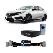 Interface Desbloqueio De Video Honda Civic G10 2017 2021  + Receptor FULL HD - Faaftech -