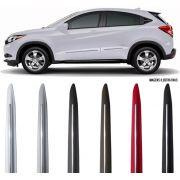 Jogo Friso Lateral Pintado Honda HRV 2015 á 2020 Modelo Original Com Friso Cromo - Cor Original
