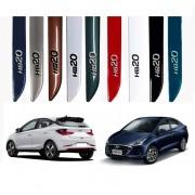 Jogo Friso Lateral Pintado Hyundai HB20 2020 2021 - Nova Geração Hatch / Sedan - Alto Relevo cromo