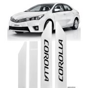 Jogo Friso Lateral Pintado Toyota Corolla 2015 Á 2020 - Cor Original