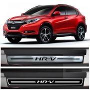 Jogo Soleira Premium Elegance Honda HRV  2015 -  2018 - 4 Portas - Vinil + Resinada 8 Peças