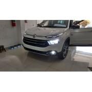Kit Lampadas FIAT TORO - LED ULtra 8000 Lumes  - 6000K -  2 kits Farol baixo + Milha