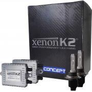Kit Xenon Canbus K2 - Hid 6000k / 4300k - Lampada E Reator Para Carro CONCEPT H7, H3, H1, HB4 (9006), HB3 (9005), H11, H27