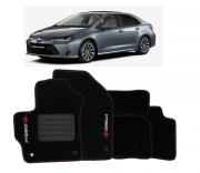 Tapete Toyota Corolla 2015 a 2020 - Carpete Preto Bordado Logo