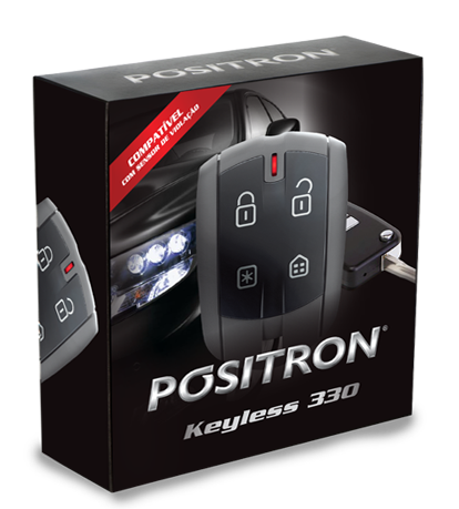 Alarme Volumetrico Positron Keyless 330 - Aciona Pelo Comando Orginal  Sensor de vidros