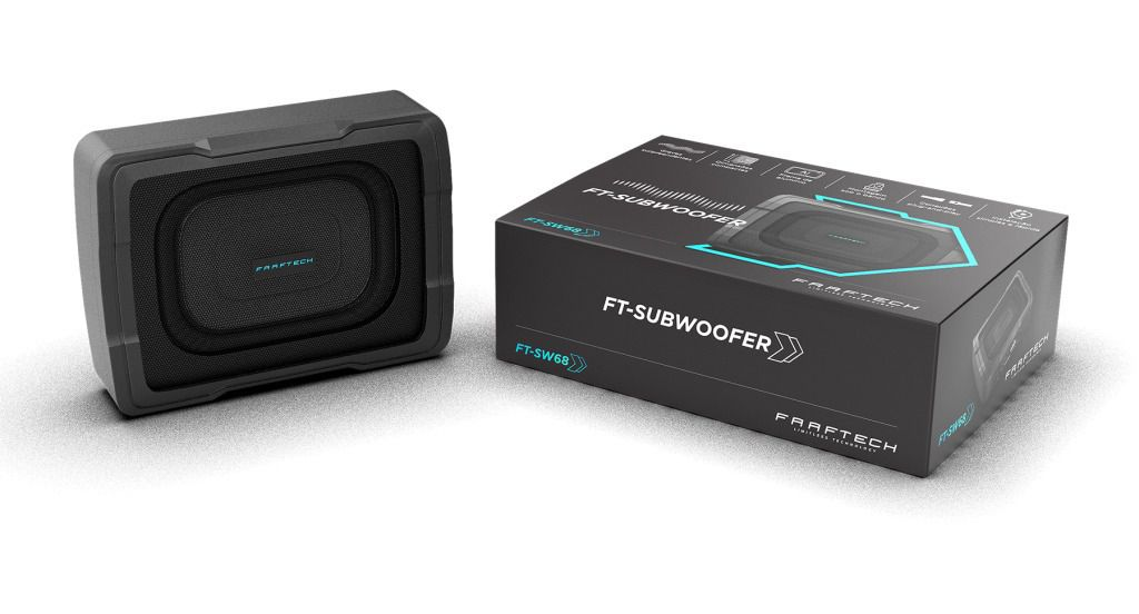 Caixa Amplificada Slim Faaftech Subwoofer 100Wrms 6x8 Pol FT-SW68