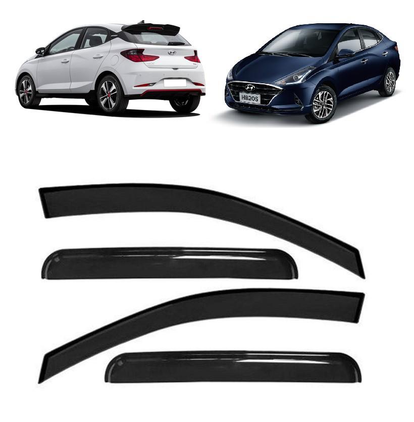 Calha Defletor De Chuva Hyundai HB20 2020 2021 Nova Geração - Hatch e Sedan