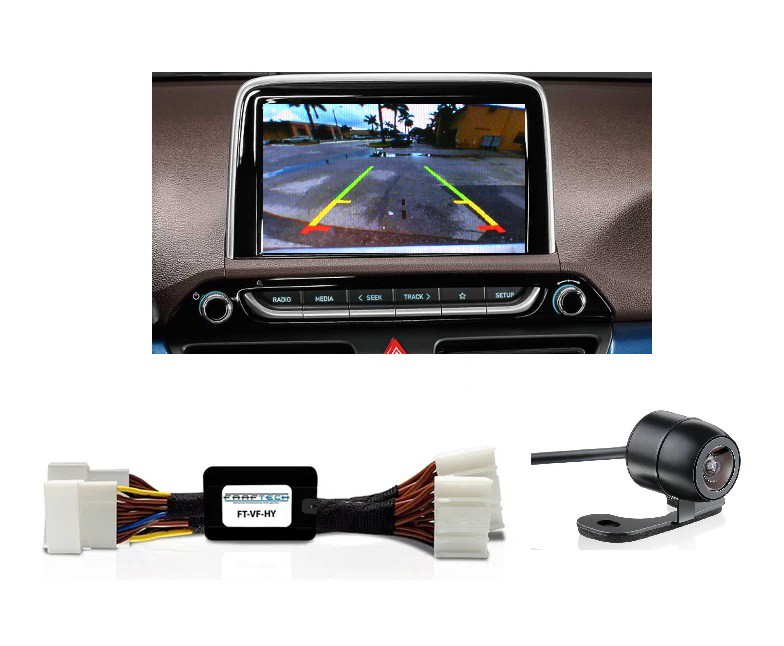 Camera de Re HB20 2021 Plug and Play Faaftech - FT-RC-HY  para Central Multimidia Original Hyundai  - Produto Instalado