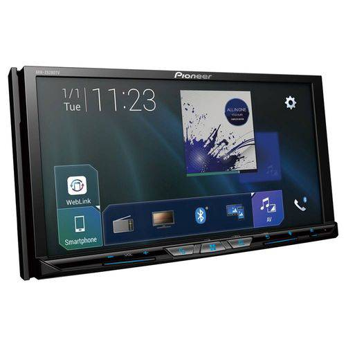 Central Multimdia Pioneer AVH Z9280TV - Androi Auto - Car play Tela 7 Polegadas Com TV Digital Bluetooth - 2 Entradas USB - Frente destacavel - Entrada HDMI
