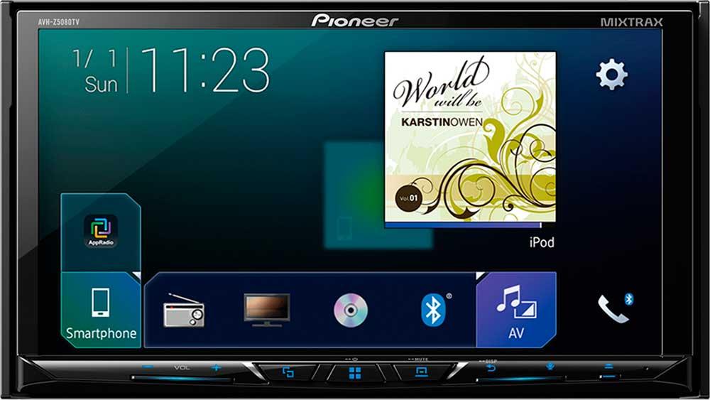 Central Multimdia Pioneer AVH Z5180TV - Androi Auto - Car play Tela 7 Polegadas Com TV Digital Bluetooth Entrada USB Mixtrax Entrada Auxiliar MP3 e TouchScreen