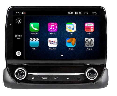 Central Multimidia Aikon Ford ECOSPORT 2018-19 X2   - GPS  Bluetooth - 2 entradas USB  TV Digital - 2 cameras ré + frontal - Sistema Android 8.1