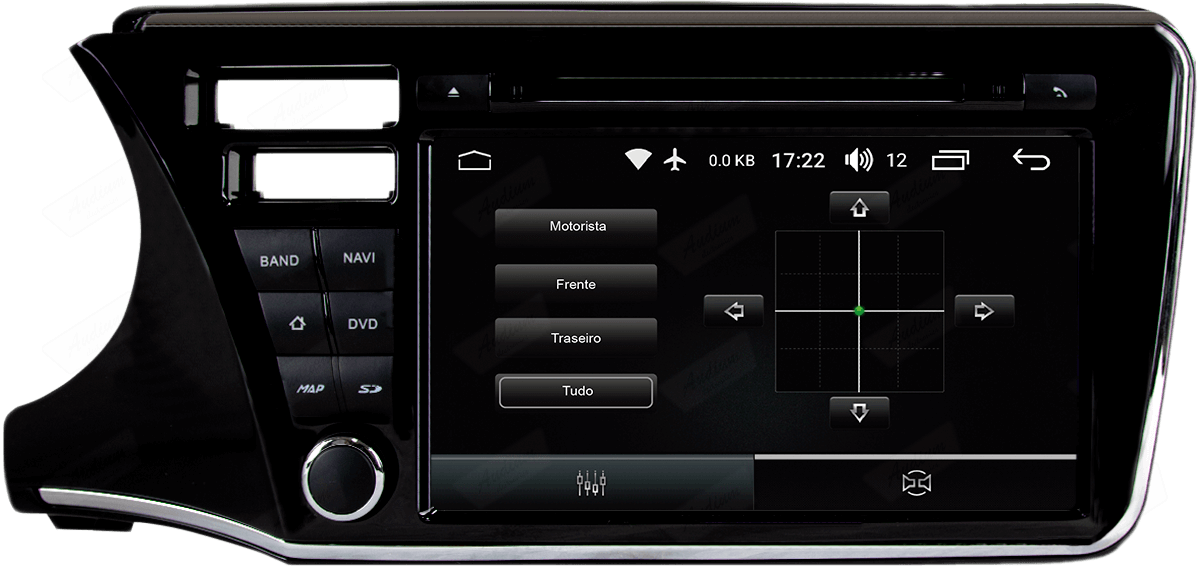 Central Multimidia Aikon Honda CITY - X2  Tela 9 Polegadas - GPS  Bluetooth - 2 entradas USB  TV Digital - 2 cameras ré + frontal - Sistema Android 8.1
