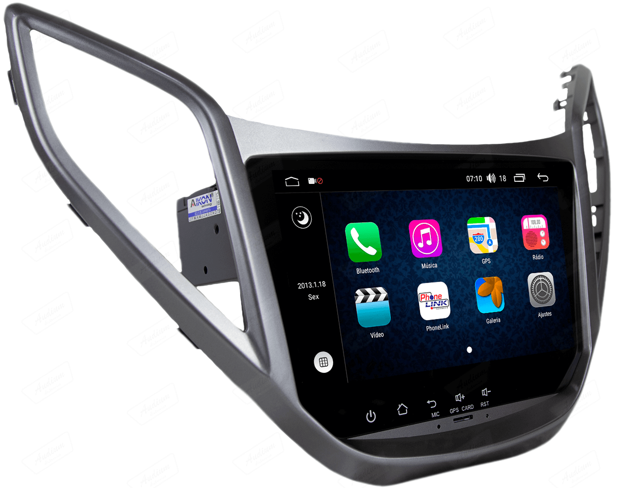 Central Multimidia Aikon Hyundai HB20 2012 - 2019 X2  Tela 8 Polegadas - GPS  Bluetooth - 2 entradas USB  TV Digital - 2 cameras ré + frontal - Sistema Android 8.1