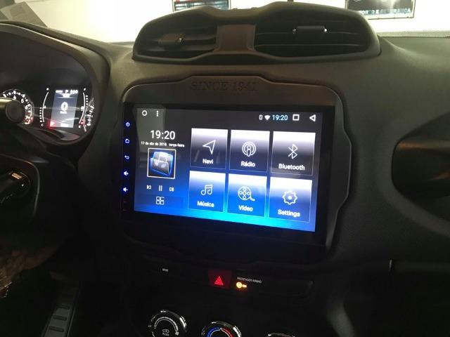 Central Multimidia Aikon  Jeep Renegade PCD -  8.8 Tela 9 Polegadas - TV Digital - GPS Mapa Bluetooth MP3 USB Ipod SD   Card Câmera de Ré - Sistema Android