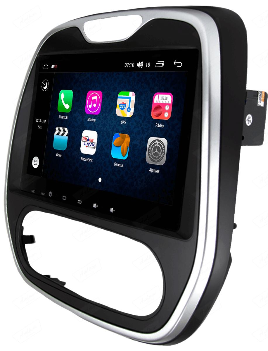 Central Multimidia Aikon Renault CAPTUR - X2  Tela 9 Polegadas - GPS  Bluetooth - 2 entradas USB  TV Digital - 2 cameras ré + frontal - Sistema Android 8.1