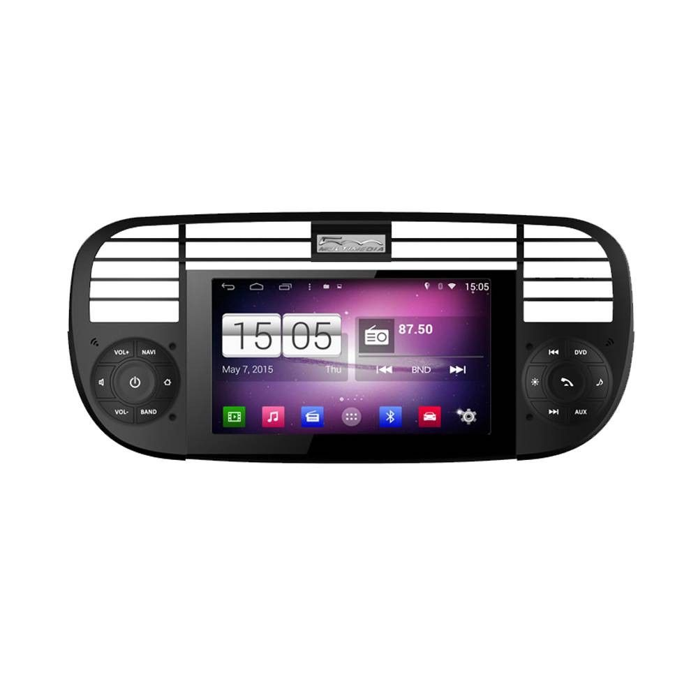 Central Multimidia Fiat 500  -  S160 - Android + Camera de ré -  Espelhamento DVD GPS Mapa Bluetooth MP3 USB Ipod SD Card Câmera Ré Grátis